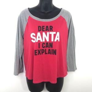 Victorias Secret Dear Santa I Can Explain T-shirt